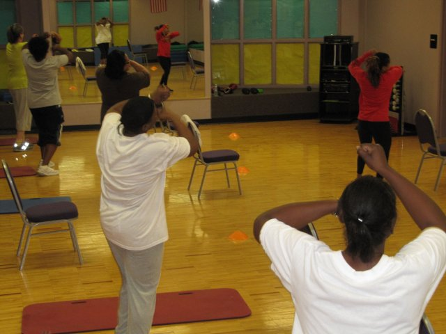 Exercise Class at Health & Wellness